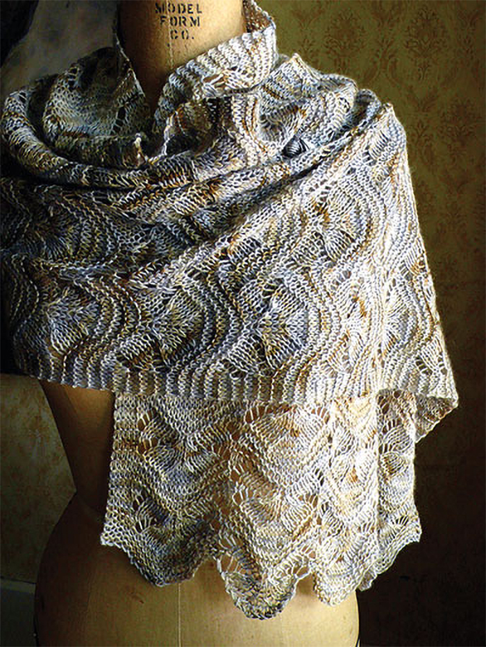 Knitting Pattern for Easy Hillflowers Scarf or Shawl