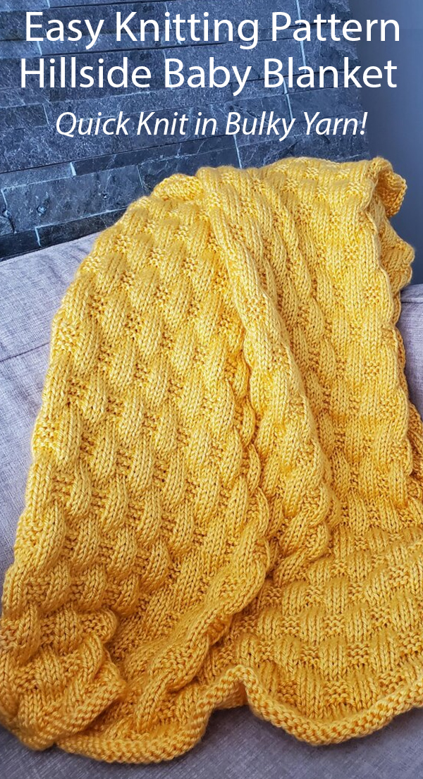 Quick Baby Blanket Knitting Patterns In The Loop Knitting