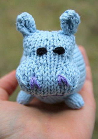 Knitting Pattern for Hippo Toy