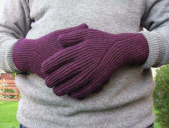 Knitting pattern for His & Her Gloves