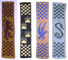 Hogwarts Bookmarks Free Knitting Pattern