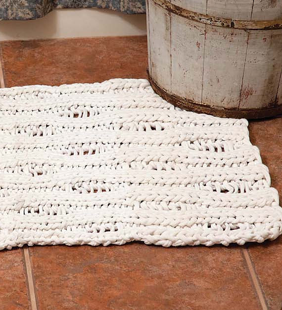 Knitting Pattern for Seafoam T-Shirt Rug
