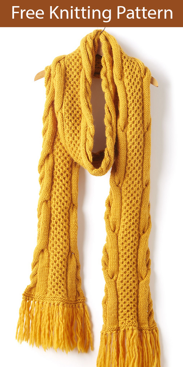 Free Knitting Pattern for Honeycomb Twist Super Scarf