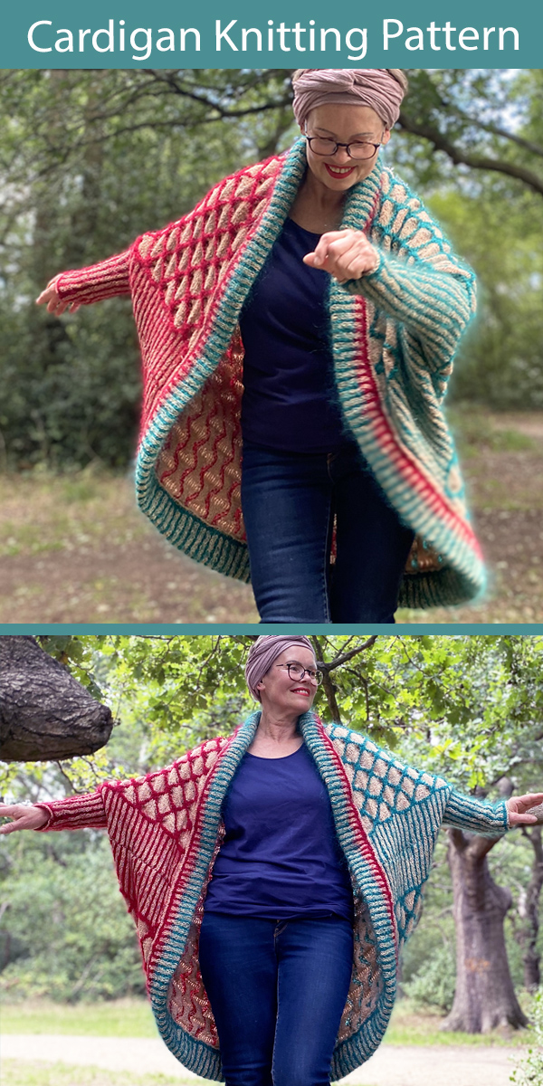 Cardigan Knitting Pattern Honeycomb Blanket Cardigan