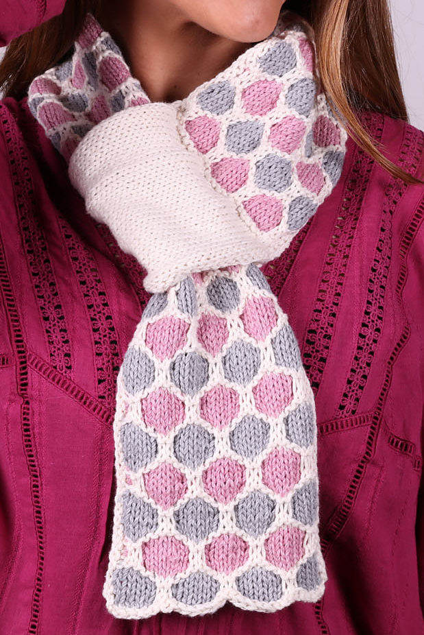 Free Knitting Pattern for Easy Honeycomb Scarf