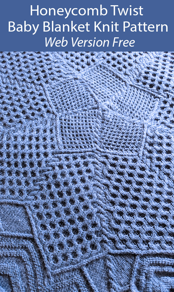 Free Knitting Pattern for Honeycomb Twist Baby Blanket