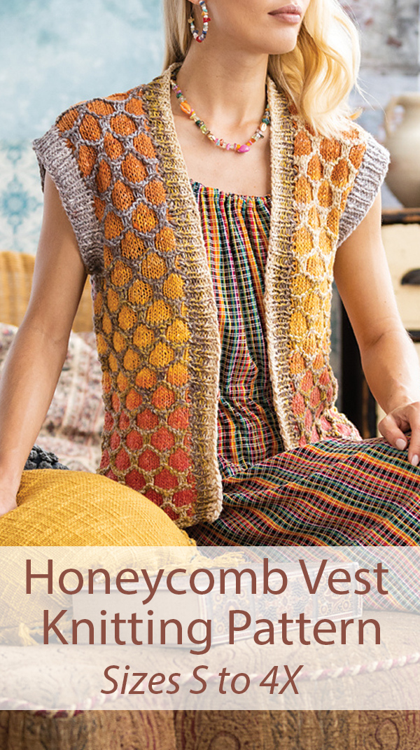 Knitting Pattern for Honeycomb Vest