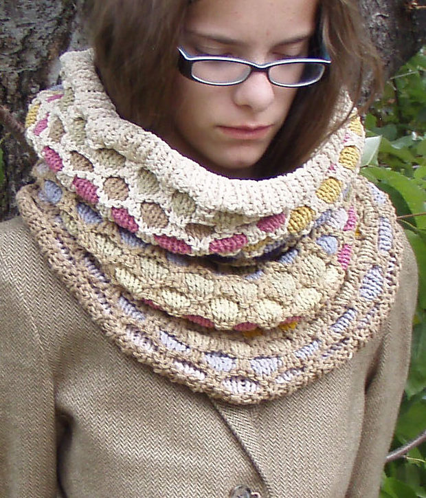 Free Knitting Pattern for Western Desert Cowl Hood