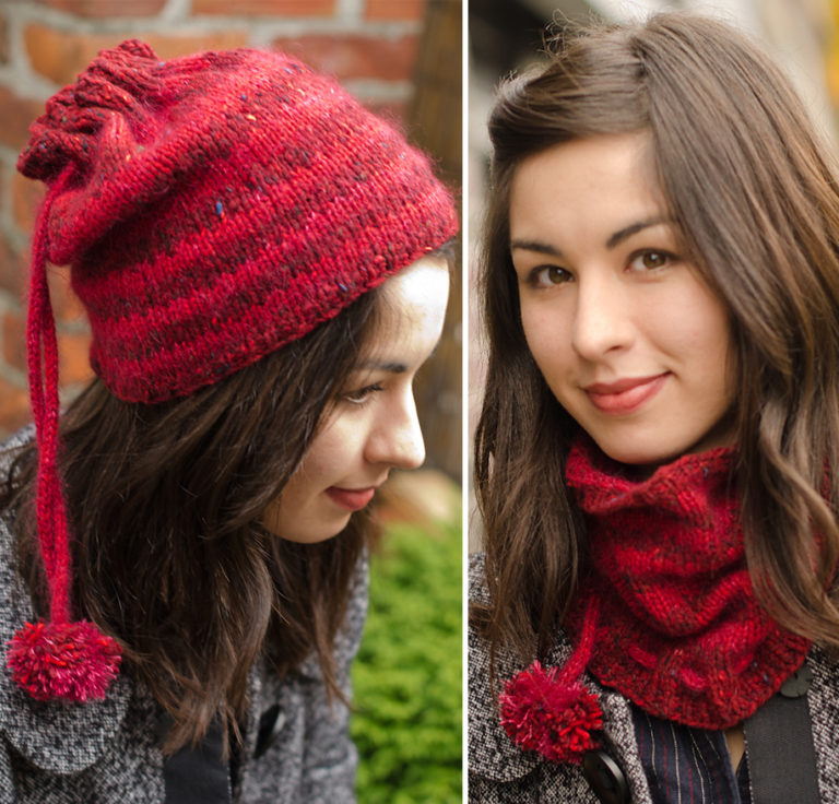 Free Knitting Pattern for Honore Hat / Cowl