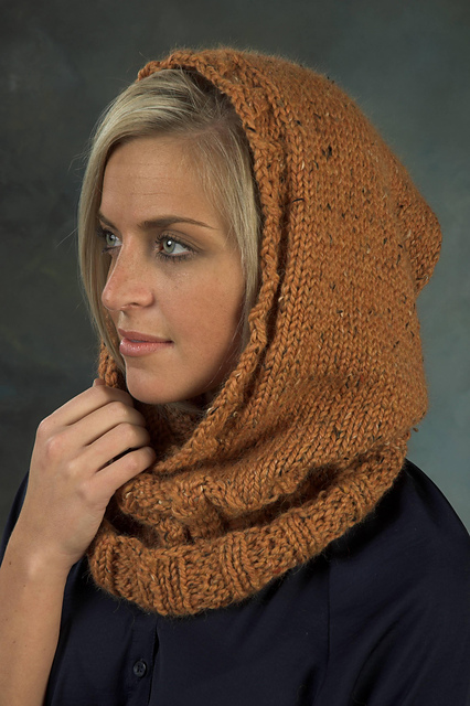 Hooded Neckwarmer Free Knitting Pattern and more hood knitting patterns