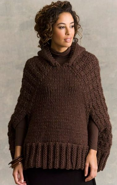 Knitting Pattern for Hawthorne Hooded Poncho