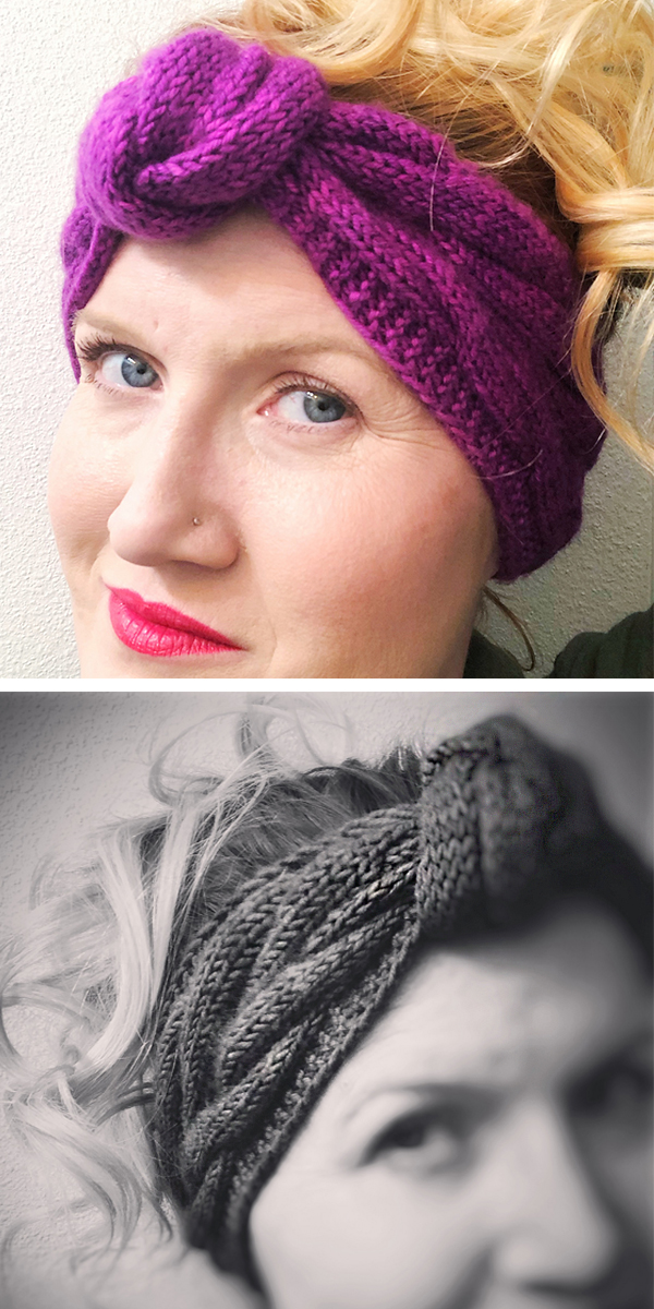 Free Knitting Pattern for Hope Entangled Earwarmer