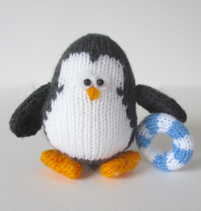 Knitting Pattern for Hopkins the Penguin Toy