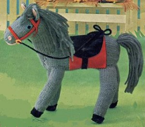 Free knitting pattern for Horse Toy