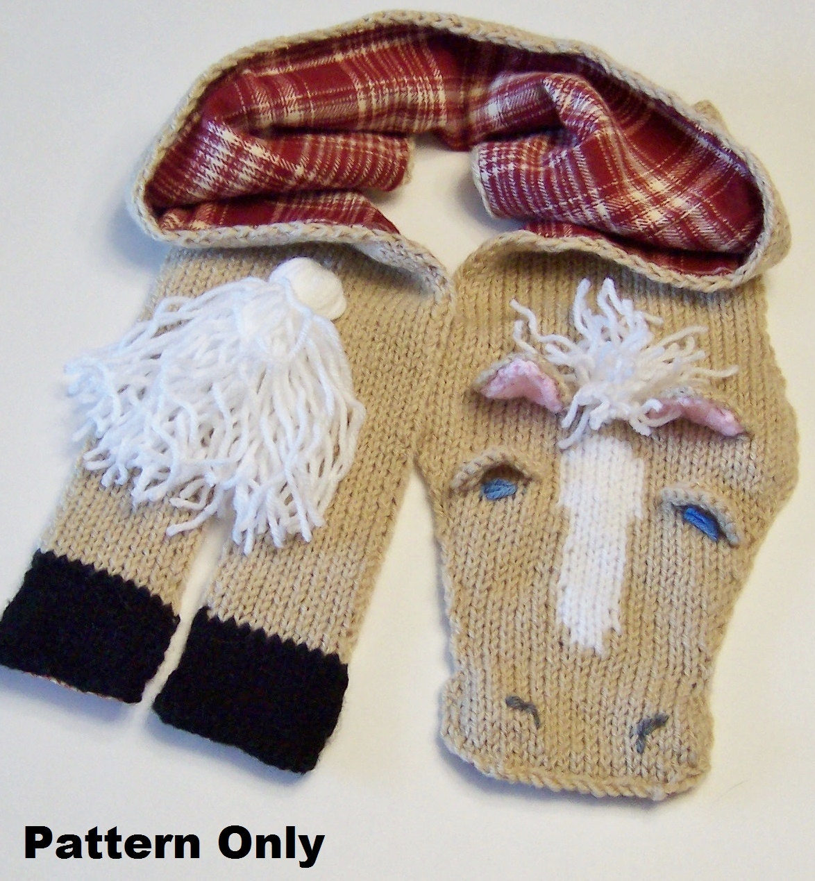 Knitting Pattern for Horse Scarf
