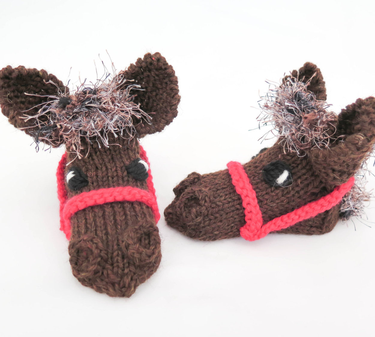 Knitting Pattern for Horse Slippers or Baby Booties
