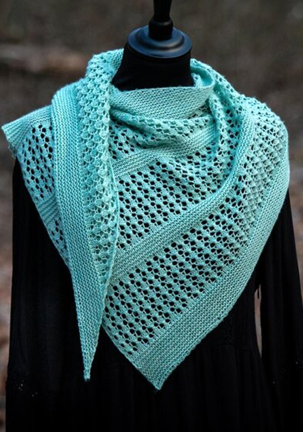 Knitting Pattern for One Skein Hotyka Shawl