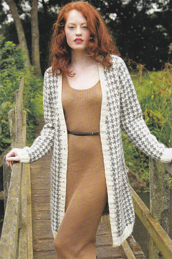 Knitting Pattern for Houndstooth Jacket