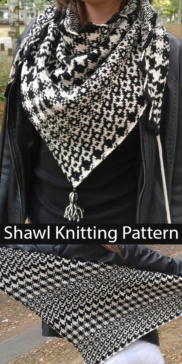Knitting Pattern for Houndstooth Shawl