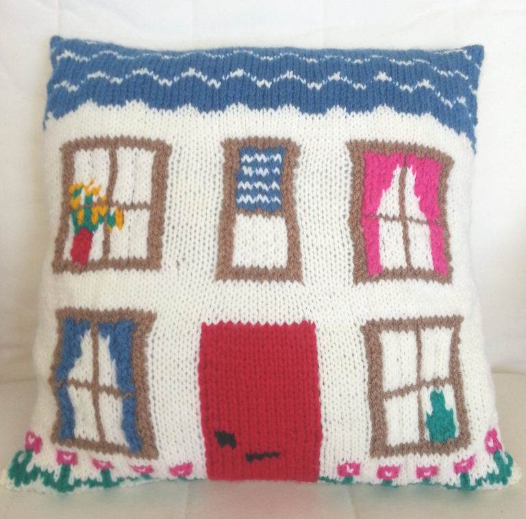 Knitting Pattern for House Pillow