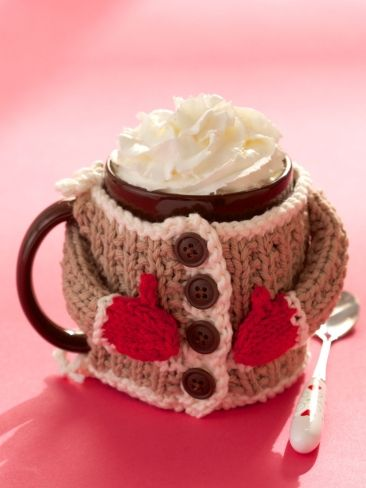 Hug Me Mug Cozy Free Knitting Pattern and cosy / cozy knitting patterns