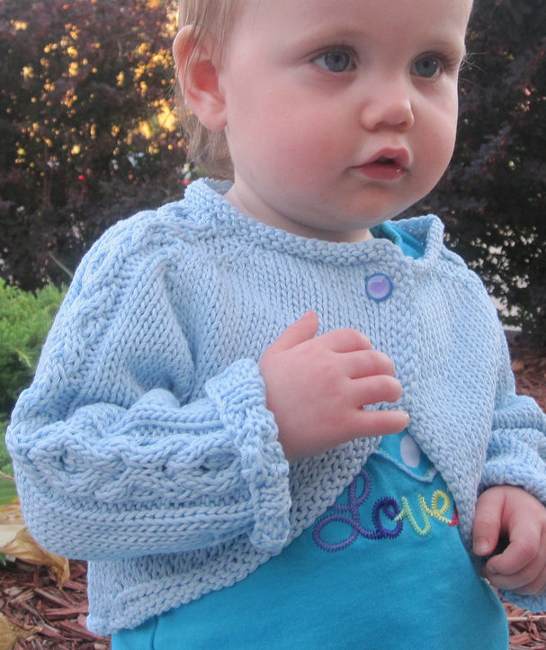 Free Knitting Pattern for Hugs and Kisses Baby Bolero