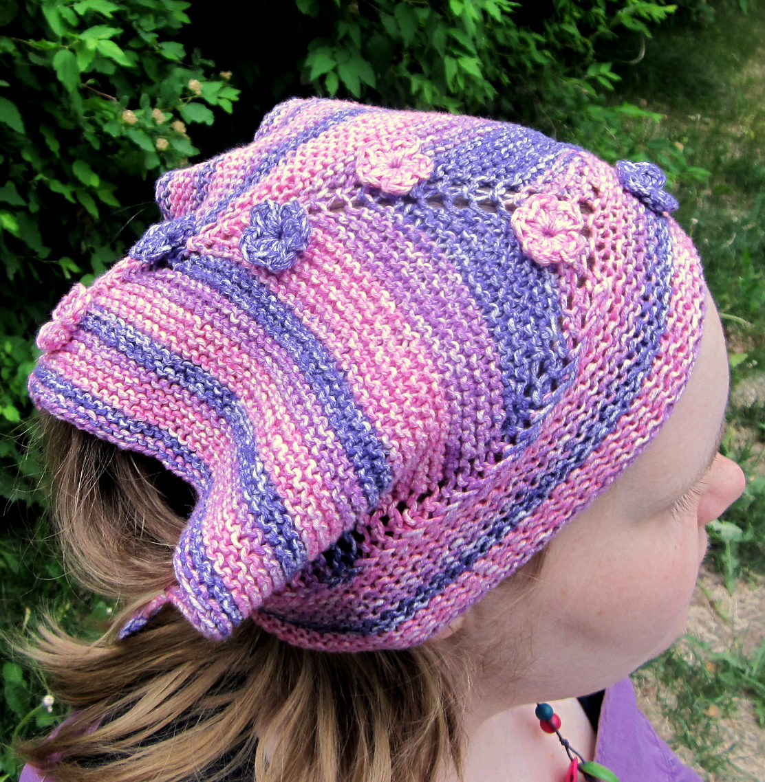 Free Knitting Pattern for Huivihattu Kerchief