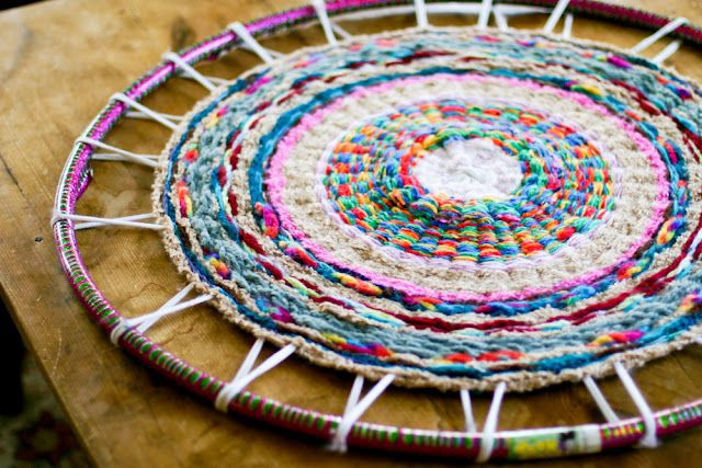 Free Knitting Pattern for Finger Knit Rug