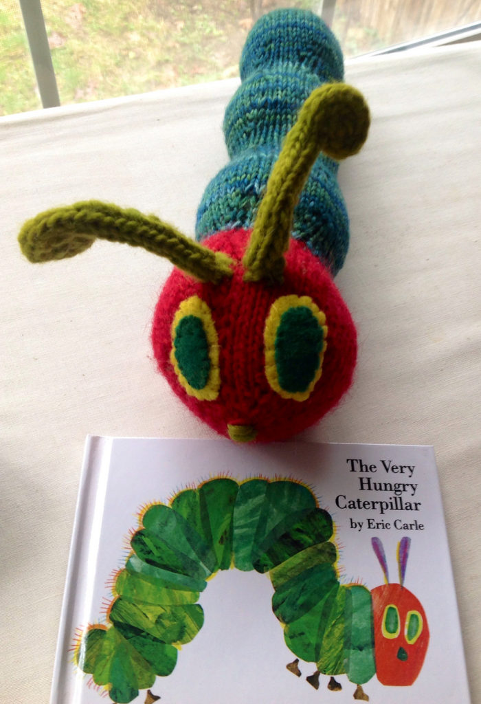 Free Caterpillar...He's Hungry Toy Knitting Pattern