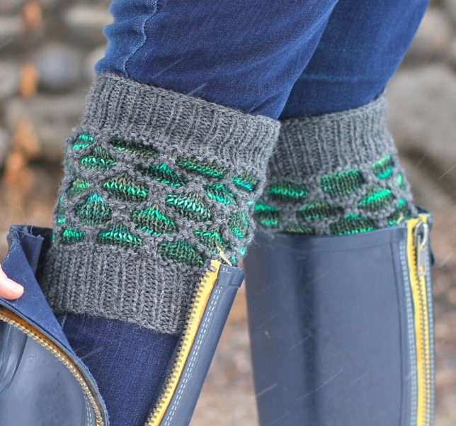 Knitting Pattern for Hyde Park Boot Cuffs and Legwarmers
