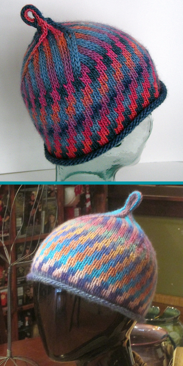 Knitting Pattern for Easy 2 Color Hat