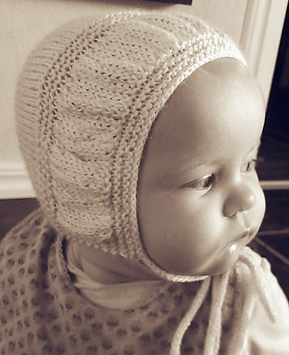Free Knitting Pattern for I-Cord Bonnet