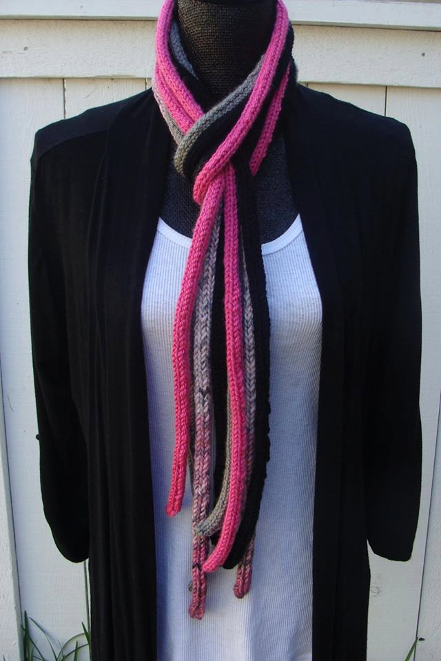 Knitting Pattern for I-Cord Scarf