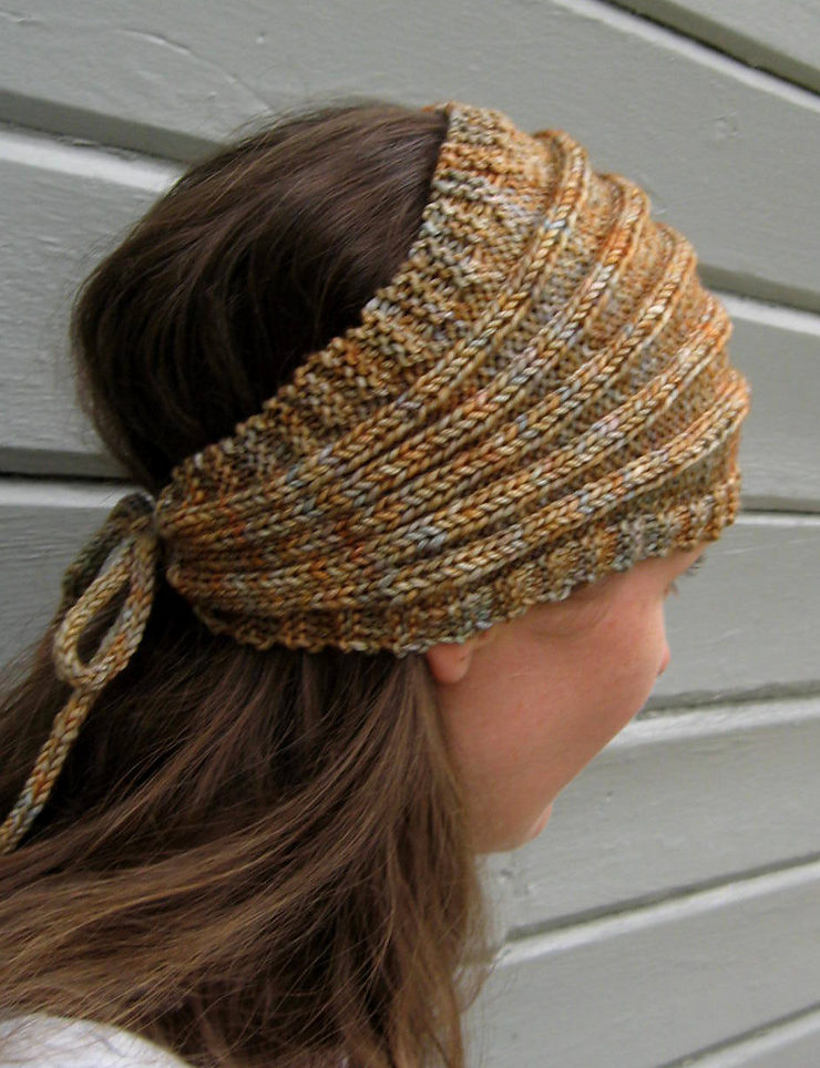 Free Knitting Pattern for I Got Hair, Baby Headwrap