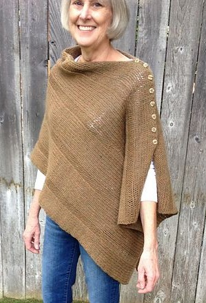 1ce4971f1 I Want That Wrap button shawl poncho free knitting pattern and more free  poncho knitting patterns