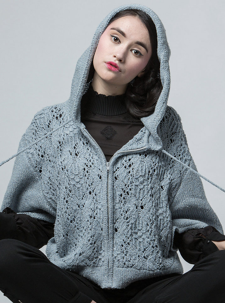 Knitting Pattern for Ichiba Hoodie
