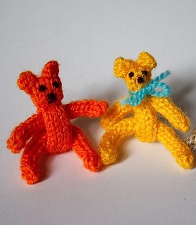 Free Knitting Pattern for I-Cord Teddy Bear