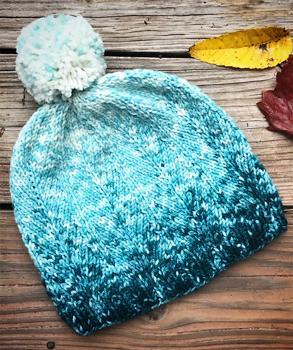 Knitting Pattern for Icy Forest Hat