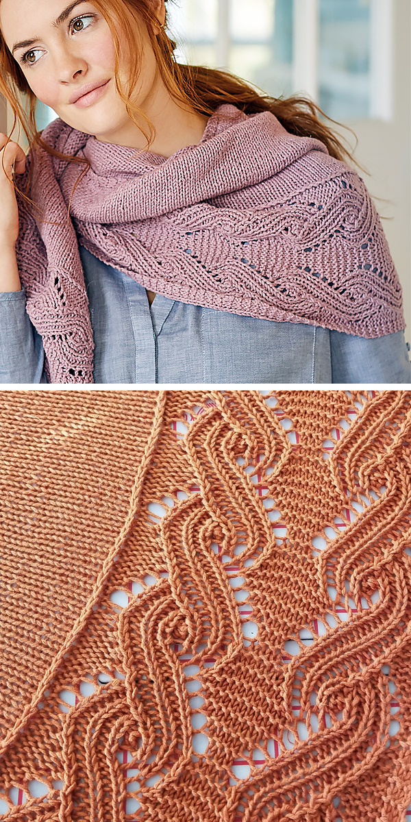 Free Knitting Pattern for Ida Shawl