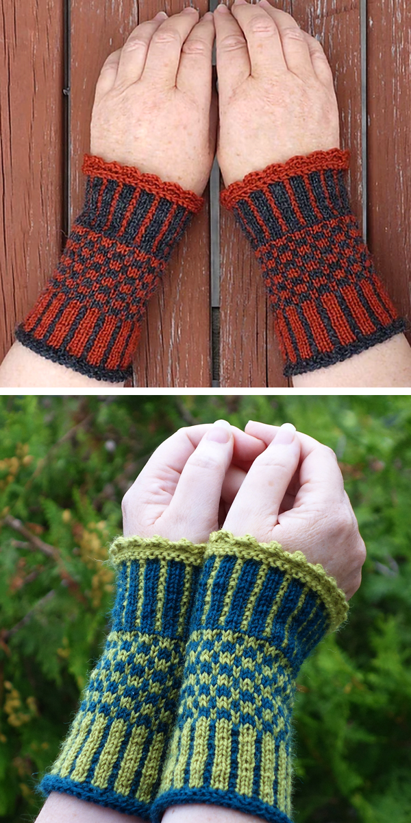 Free knitting pattern for Ida Wrist Cuffs