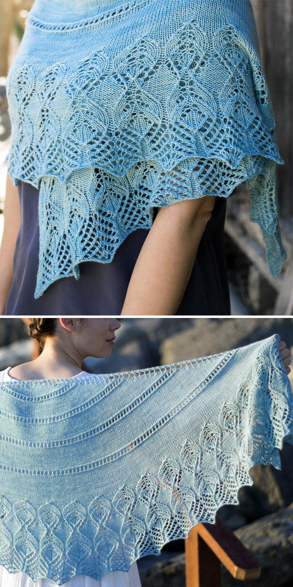 Knitting Pattern for Idina Shawl
