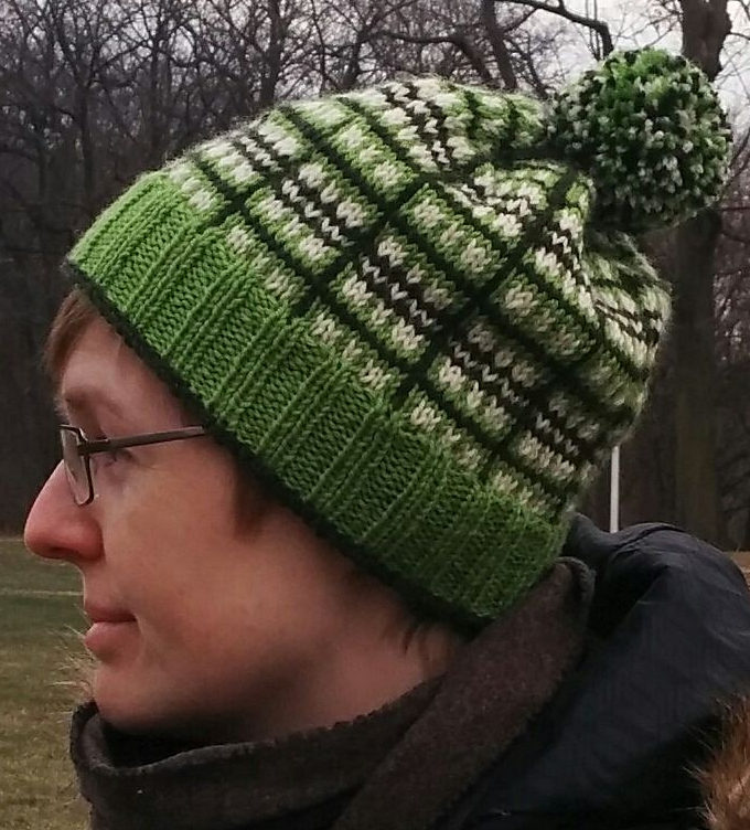 Free Knitting Pattern for Im Glad Its Plaid Hat