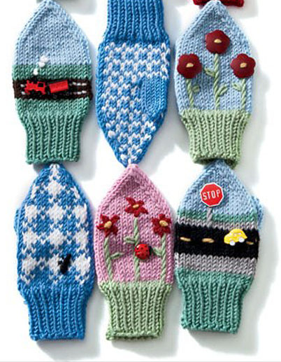 Knitting Pattern for Imagine Mittens