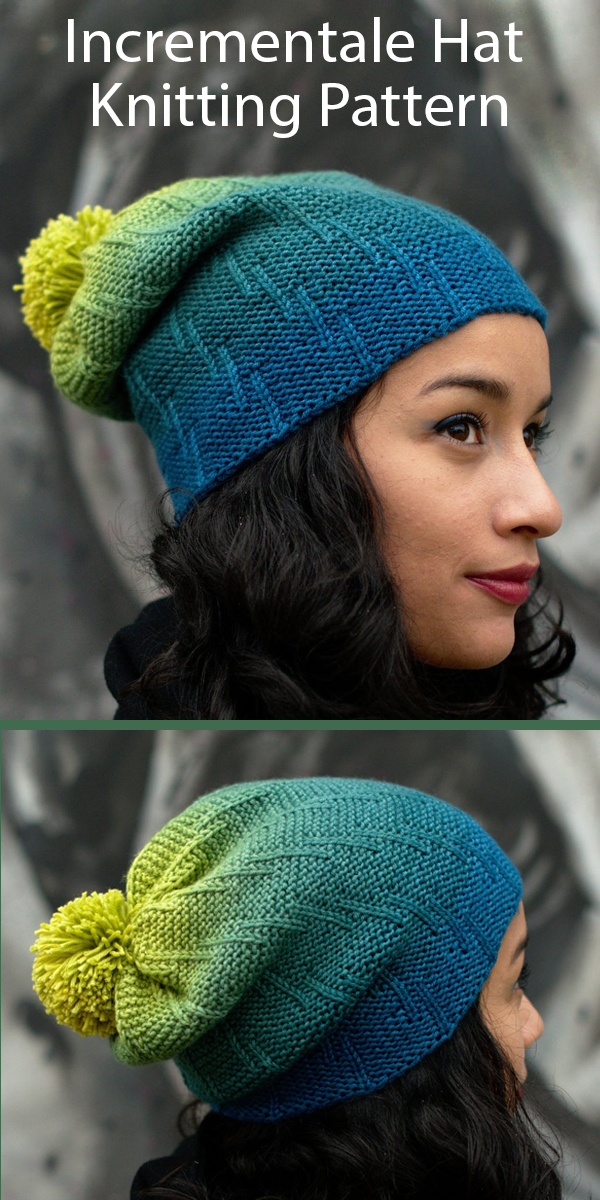 Knitting Pattern for Incrementale Slouchy Hat