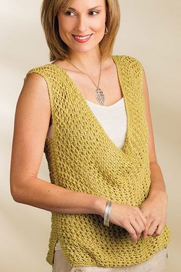 Knitting pattern for Indus sleeveless lace top