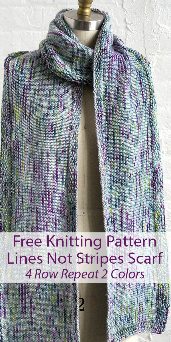 Free Knitting Pattern for Lines Not Stripes Scarf