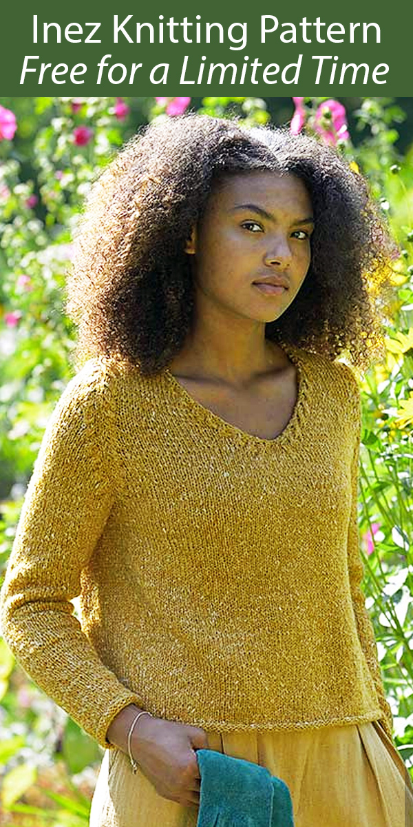 Free until Dec 31, 2020 Knitting Pattern for Inez Sweater