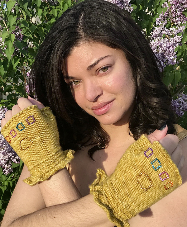 Free Knitting Pattern for Infinity Gauntlet Mitts
