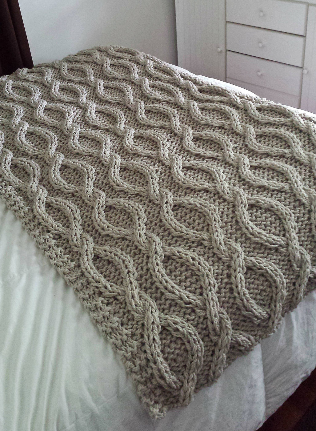 Knitting Pattern for Infinity Cable Blanket