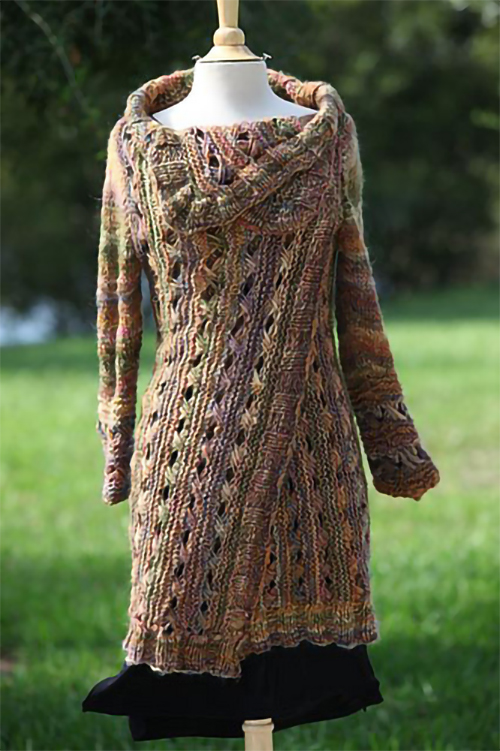 Knitting Pattern for Infinity Cardi-Wrap